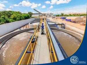 estructura de una planta de agua residual